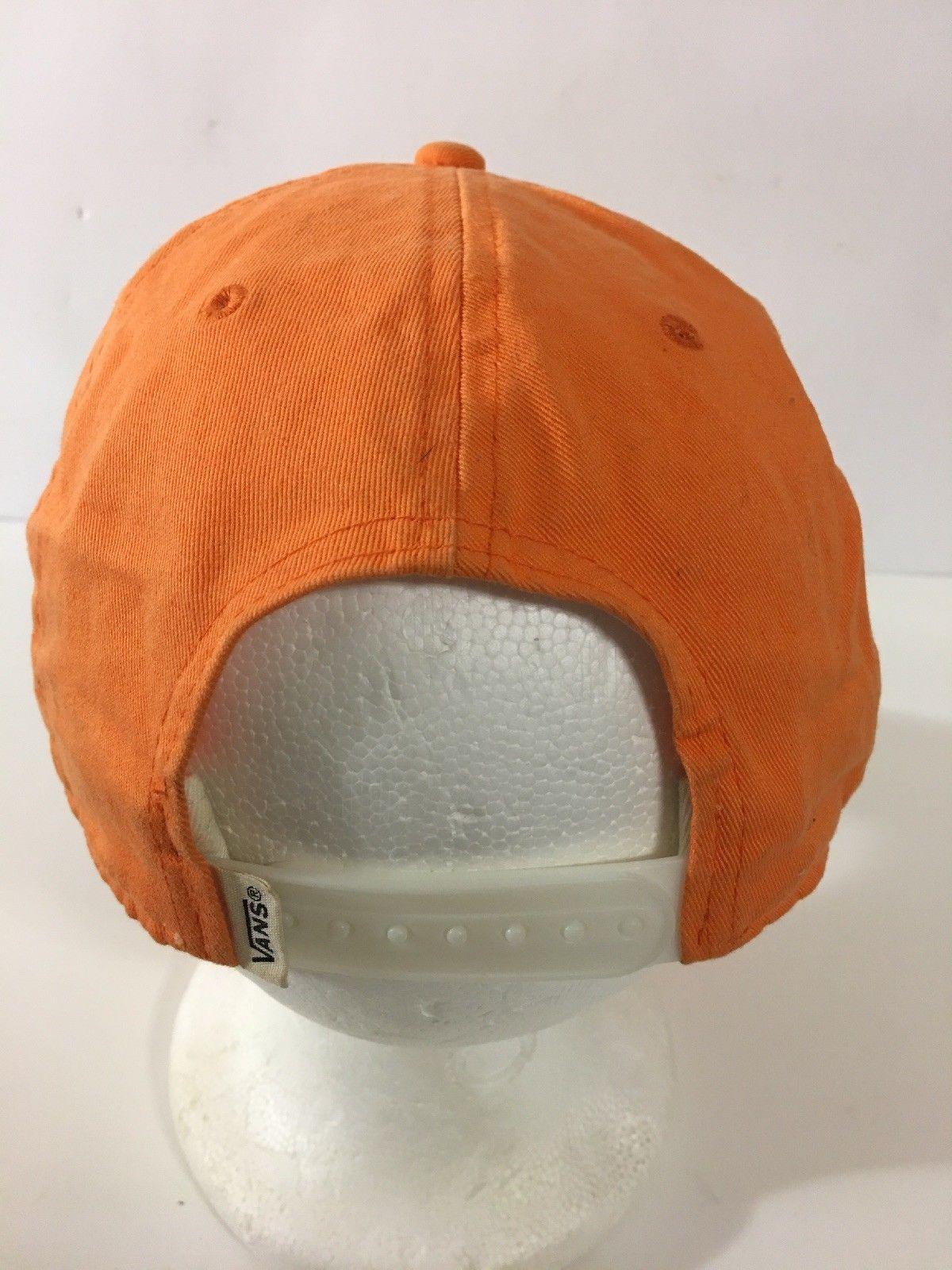 VANS OFF THE WALL HAT CAP ADJUSTABLE SNAPBACK California Native Orange