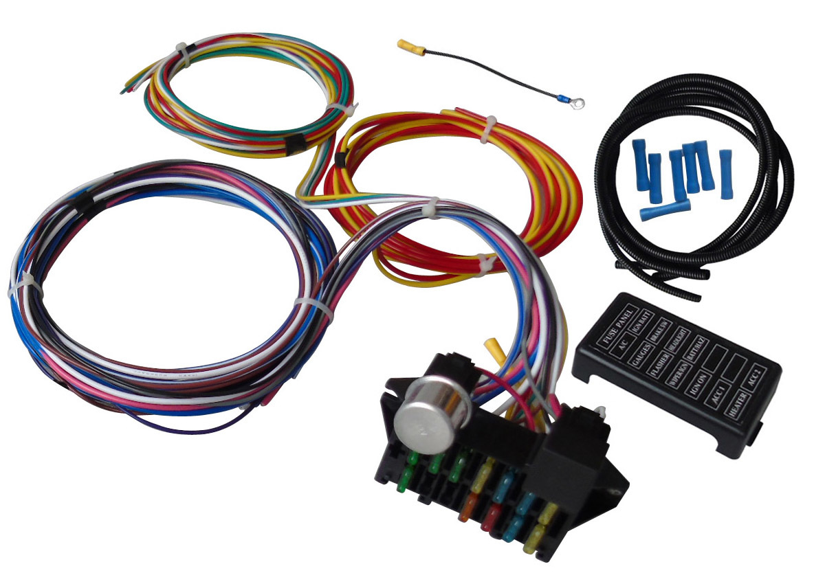 A Team Performance 12 Circuit Universal Wire Harness Muscle Car Hot 3 Wiring Kit Send 12e 4