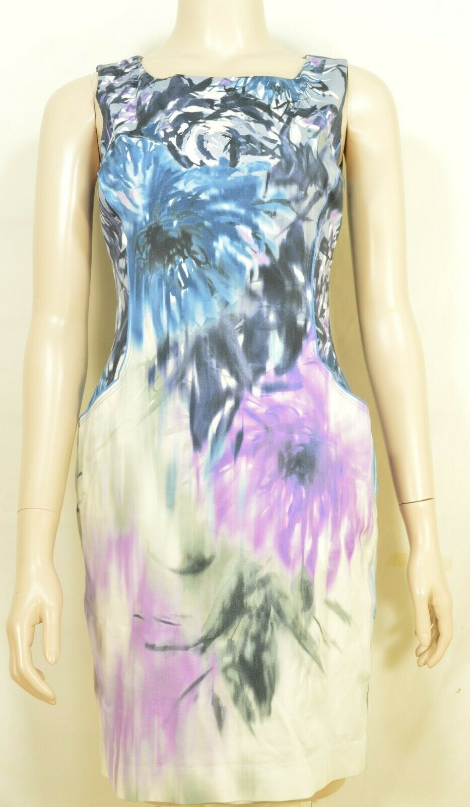 Elie Tahari dress SZ 2 LOT of 2  1 turquoise 1 floral sheath career chic lined image 12