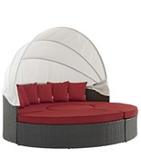 Sojourn Outdoor Patio Sunbrella® Daybed Canvas Red EEI-1986-CHC-RED - $1,927.75