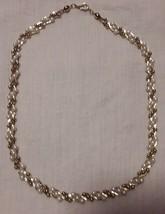 Vintage TRIFARI Braided gold tone & faux pearl & bead necklace single strand  - $23.99