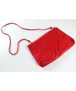 Bright Red Valencia Leather Handbag Purse, Shoulder Strap, Zipper & Magnet - £20.31 GBP