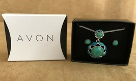 AVON Fragrant Garden Necklace and Earring Gift Set womens jewelry new in... - $13.50