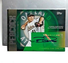 Brad Peacock Oakland A's Chasing The Dream Certified Autograph - $4.99