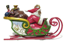 Dashing Santa in Sleigh Ornament Christmas 4053836 Jim Shore Collectible... - $32.66