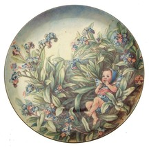 Border fine bone china Festival of Flower Fairies Forget Me Not Fairy Plate - $50.57