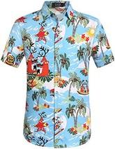 SSLR Men's Santa Claus Party Tropical Ugly Hawaiian Christmas Shirts 3X-... - $22.12