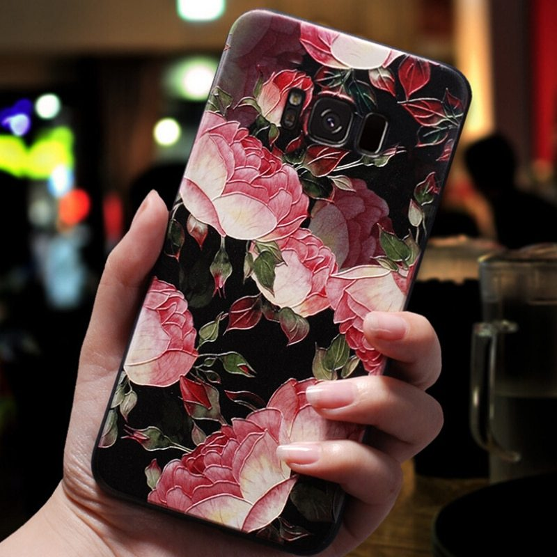 3D Relief Flower Case For Samsung Galaxy A7 A5 A8 A6 Plus A3 2016 Case Silicone