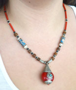 Statement necklace, Boho necklace, tribal necklace, ethnic necklace, Nep... - $22.99