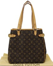 Authentic LOUIS VUITTON Monogram Canvas Batignolles Vertical Bag TT1539 - $1,034.55