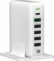 53 vatios cargador de 6 puertos USB-C con QC 3.0 para Samsung iPhone LG HTC Moto - $13.09