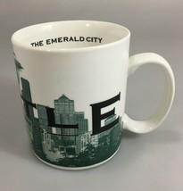 Starbucks Seattle Emerald City Skyline Series One Coffee Mug Cup Barista... - $33.81