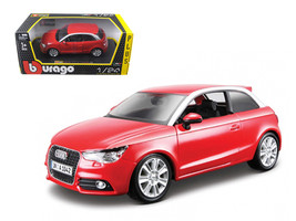 Audi A1 Red 1/24 Diecast Car Model by Bburago - $33.00