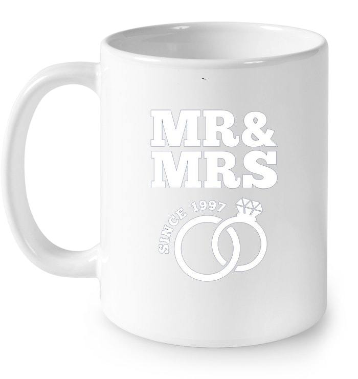 21st Wedding Anniversary Gift Mr Mrs Since 1997 Gift Coffee Mug