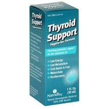 NatraBio Thyroid Support, Vegetarian Formula, 1 Fluid Ounces (30 ml) - $11.78