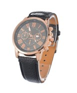 FUNIQUE Fashion Minimalist Watches Women PU Leather Ladies Dress Gold Qu... - $12.08