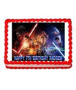 Star Wars The Force Awakens Edible Cake Image Cake Topper - $8.98+