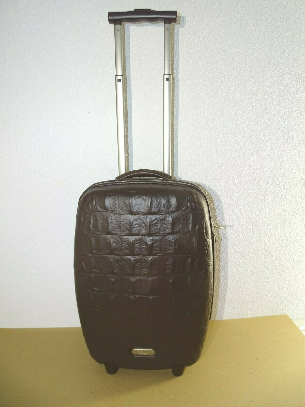 Samsonite Alexander McQueen Black Label Carry-On Suitcase Luggage Crocodile image 6