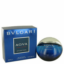 Bvlgari Aqva Atlantique 3.4oz Men's Eau De Toilette spr new sealed box - $59.99