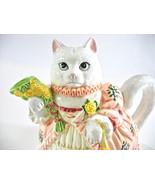 Cat Teapot Music Box, Lefton Porcelain, Kitty Cat Figurine, Musical Teap... - $86.00