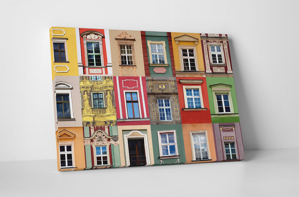 "Primary image for Colorful Windows I Gallery Wrapped Canvas Print 30""x20"" or 20""x16"""
