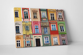 "Colorful Windows I Gallery Wrapped Canvas Print 30""x20"" or 20""x16"" - $43.75+"