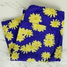 Lularoe OS One Size Blue Floral Yellow Flowers Print Spring Summer Leggi... - $9.89