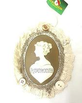 Kurt Adler Lace Plaque Ornament (Grandmother) - $14.85