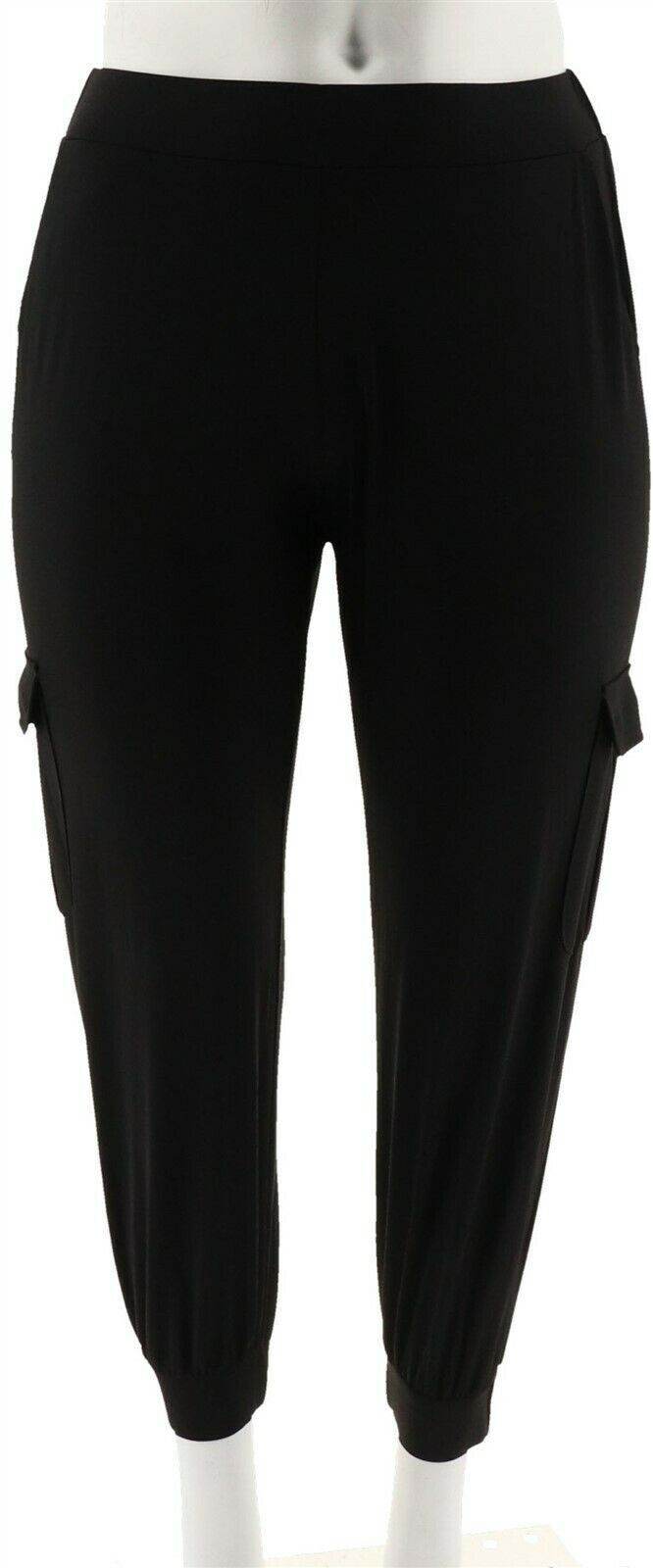 Primary image for Lisa Rinna Collection Petite Banded Bottom Pants Black PXXS NEW A275986