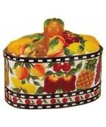 Fruit Delight Cookie Jar, Food Storage, Kitchen Decor - $73.79