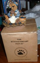 Boyds Bears Muffin B. Blueberry Candle Topper - $14.95