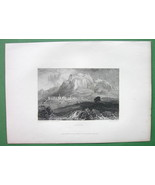 GREECE View of Corinth - 1833 Antique Print Engraving - $12.60