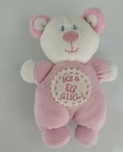 Kids Preferred ITs It's a Girl Stuffed Plush Teddy Bear Pink Baby Rattle... - $19.79