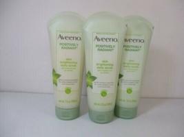 3 - Aveeno Positively Radiant Skin Brightening Daily Scrib - 7.0 Oz. Each Tube - $21.99
