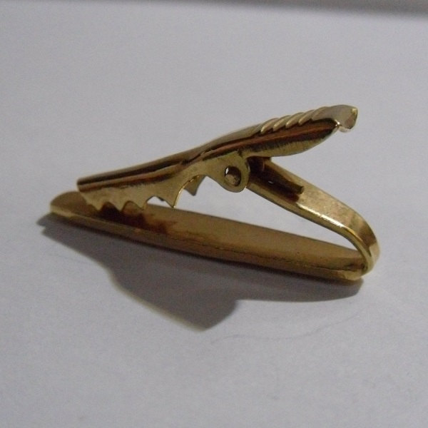 1950s Vintage Textured Starburst Gold Tone Tie Bar ~ Young Man / Child's Tie Bar