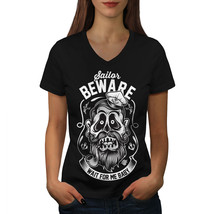 Sailor Beware Baby Funny Shirt  Women V-Neck T-shirt - $12.99+