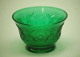 """Old Vintage Sandwich Forest Green 2-3/8"""" Custard Cup by Anchor Hocking G... - $12.86"""