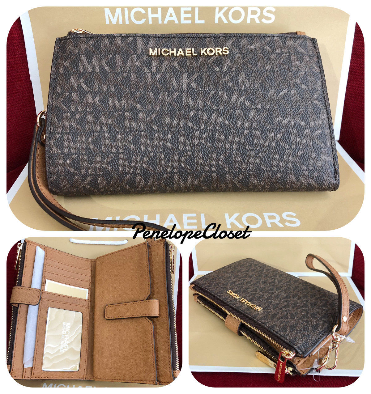 252c499d99f0 Nwt Michael Kors Mk Logo Pvc Jet Set Travel and 50 similar items. 57