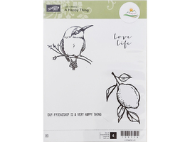 Stampin' Up! A Happy Thing Rubber Stamp Set #139134 - $11.99