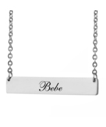 Custom Any Name Bar Necklace Christmas Mother Day Gift for Bebe - $9.99+