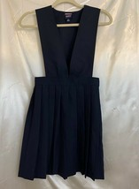 French Toast Girls Jumper Dress Blue School Uniform Pleated Skirt V Neck 12 - $15.83