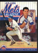 1990 New York Mets Giants Official Scorebook Program Unscored Gregg Jeff... - $24.99