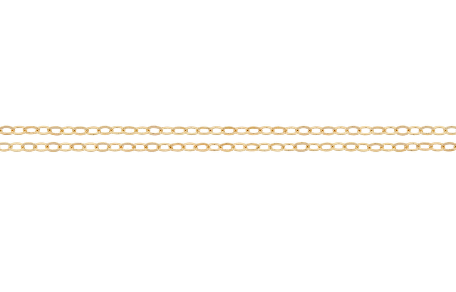Primary image for Chains, Flat Cable Chain, 14Kt Gold Filled, 1.5x1.2mm, Pkg Of 20ft (2306-20)/1