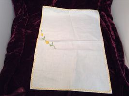 Antique Set of Four Embroidered Floral Hand Towels image 7