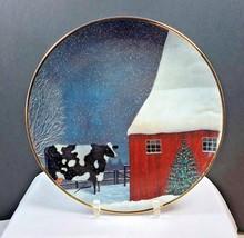 "Franklin Mint American Folk Art ""BARNYARD CHRISTMAS Lowell Herrero Plate... - $21.77"