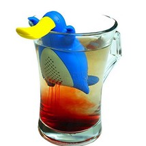 Tea Strainers Cute Useful Silicone Duck Shape Reusable Loose Leaf Teabag... - €8,79 EUR