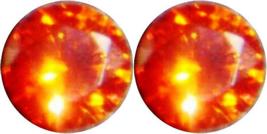 2 SAPPHIRE PADPARADSCHA ORANGE 6.00 mm. EACH LOOSE DIAMOND-SPARKLING HAR... - $8.99