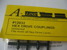 A-Line #12032 Hex Drive Couplings Universal Dogbone Fits Athearn Cut to length image 3