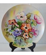 """Vintage 10"""" Lipper & Mann Porcelain Plate Hand Painted Signed Floral Design - $18.99"""
