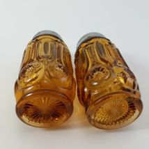 L.E. Smith Moon And Stars Amberina Salt And Pepper Shakers  image 5
